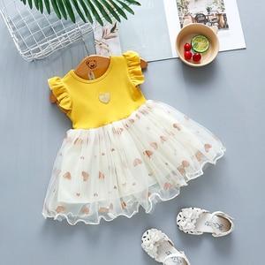 Baby girls summer wedding dresses newborn baby fashion corron lace princess party dress for bebe girls toddler birthdays clothes(China)