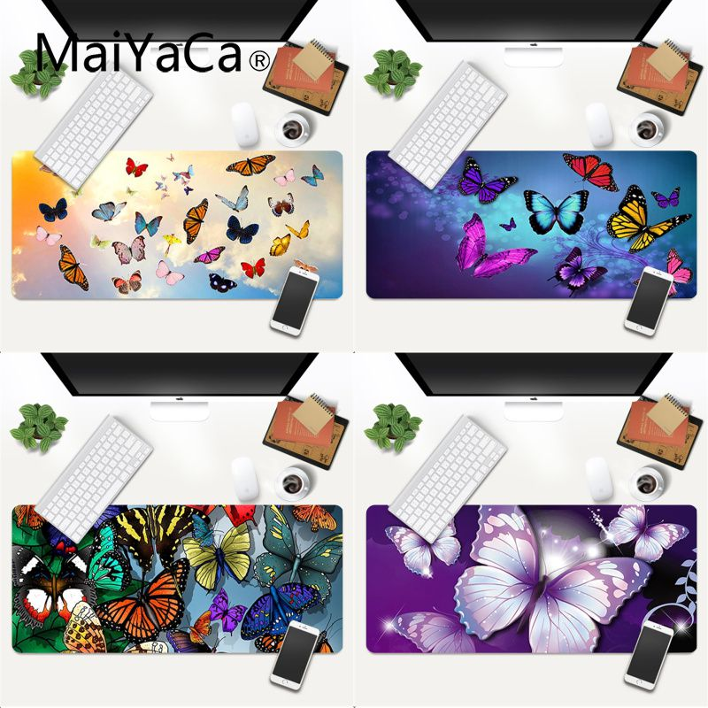 Your Own Mats Colorful butterfly Laptop Gaming Mice Mousepad Gaming Mouse Pad Large Deak Mat 600x300mm for overwatch/cs go