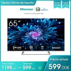 HISENSE H65B7500 4K UHD Smart TV 65 pulgadas, 3 HDMI, 2 USB, salida óptica, wifi, Bluetooth, HDR, Großen Farbraum, Audio DTS
