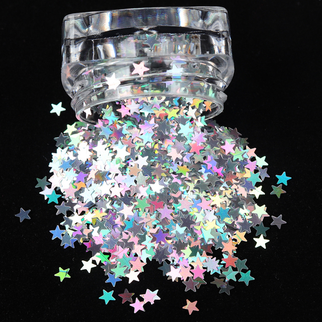 1 Box Holographic Butterfly Shape Nail Glitter Flakes Sparkly 3D  Colorful Sequins Spangles Polish Manicure Nails Art Decoration 3