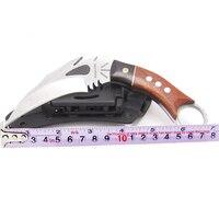Masalong kni114 dragão dracarys série lâmina fixa karambits facas acampamento caça sobrevivência ferramentas edc