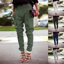 PUIMENTIUA Women High Waist Pants Strechy Elastic Striped Pants Belt Spring Casual Bow Tie Slim Trousers Plus Size Harlan Pants