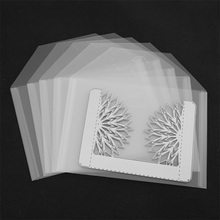 10pcs/set Plastic Folder Bag For Storage Cutting Dies Hot Foil Plates Clear Stamps Embossing Organizer Holders Transparent Bags azsg 2018 new arrival tree heart shaped embossing plates design diy paper cutting dies scrapbooking plastic embossing folder