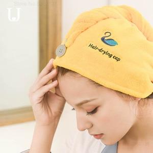 Image 4 - Youpin JORDAN & JUDY gorro de secado de pelo suave para mujer, tapa de secadora rápida, absorbente de agua, gorro protector para la diadema de la ducha del hogar