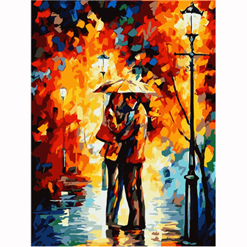 Painting By Numbers For Adults Digital Oil Painting,Picture By Numbers,Lovers Wall Art Pictures Coloring By Number,Home Decor