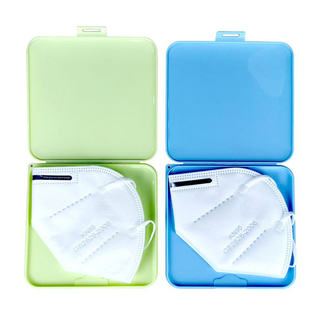 KN95 Mask Case N95 Mask Storage Box Container Resin Buckle Design Portable Foldable Disposable Mask Boxes Safe Cleaning Outdoor