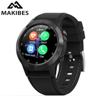 Makibes M4 Smart watch Compass Multi language GPS Men Sport Heart Rate Monitor Call Message Reminder Activity Fitness tracker