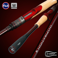 TSURINOYA Fishing Rod INSPIRATION 2.21m2.36m Medium Light MF Spinning Casting 2 Section Carbon Lure Rod FUJI SIC Guide Reel Seat