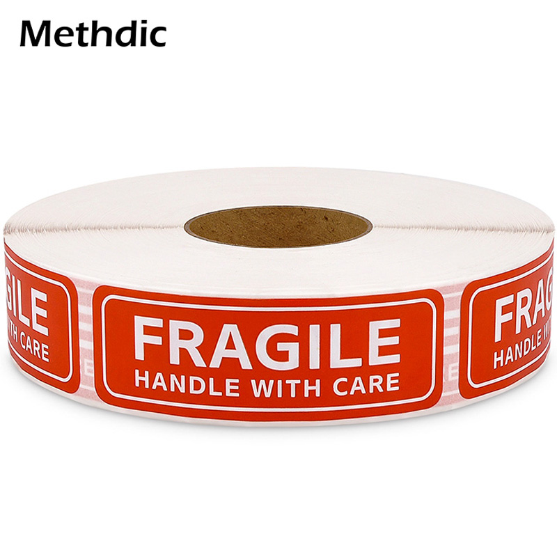 Methdic 1'x3' 2000 Labels Storng Self-adhesive Fragile Warning Sticker Vinyl Label Sticker For Shipping