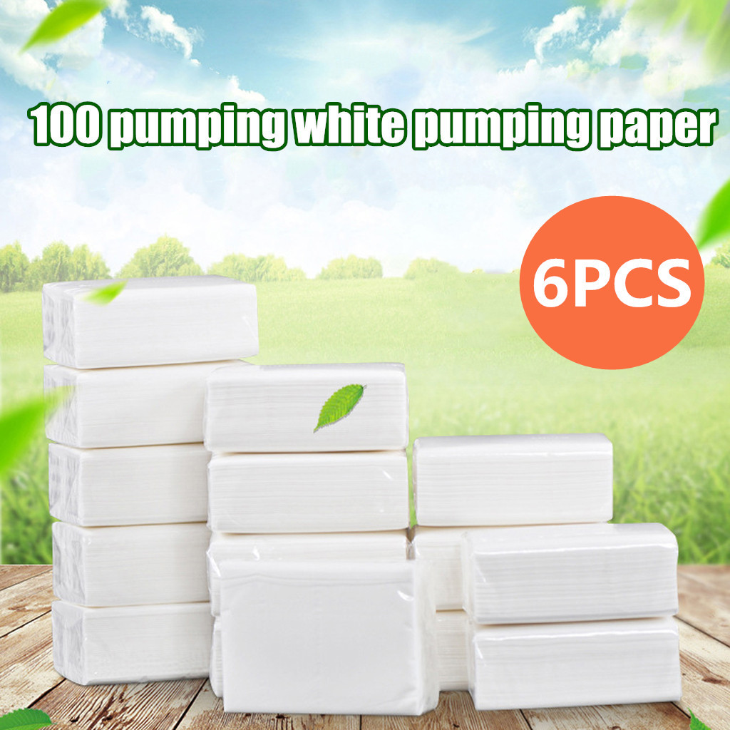 1 Pack White Paper Hand Towels Pack Of 100 Sheets Tissues Napkin Household Tissue Napkins Toilet Paper Wholesale