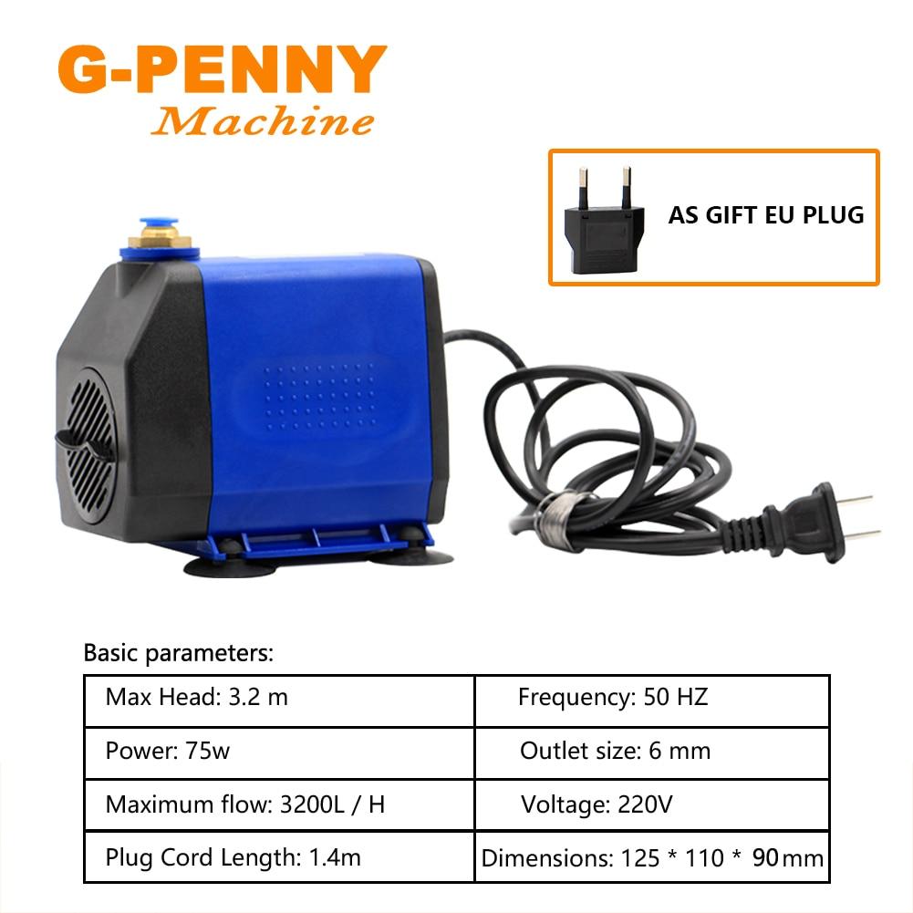 Купить с кэшбэком 0.8KW Water Cooled Spindle Motor kit 800W Water Cooling Spindle 4 Bearings Dia. 65mm & 1.5KW Inverter/VFD &75w Water Pump Collet