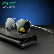 RANDOLPH Sunglasses American Military Army Aviation Pilot RE Glass lens Men Woman Brand Original Box Top Quality 009