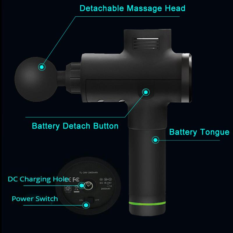 professiona Muscle Massager guns Electric Therapy Body Muscle Massage Gun Vibrating Relaxing Massage Machine Fitness accessories