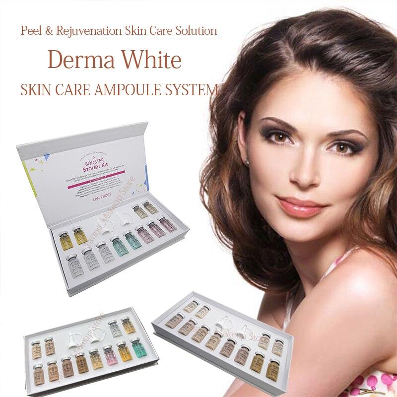 Korean Makeup BB Cream Ampoule Dermawhite Serum Booster Starter Kit Mix Shades Brightening Foundation Healing Treatment Cream