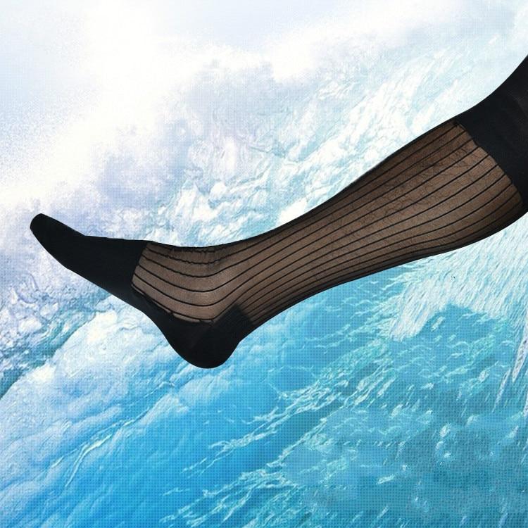 Men's Socks Ice Silk Socks Ultra Thin Men's Business Dress Socks Erotic Formal Dress TNT Socks Sexy Sheer Transparent Socks