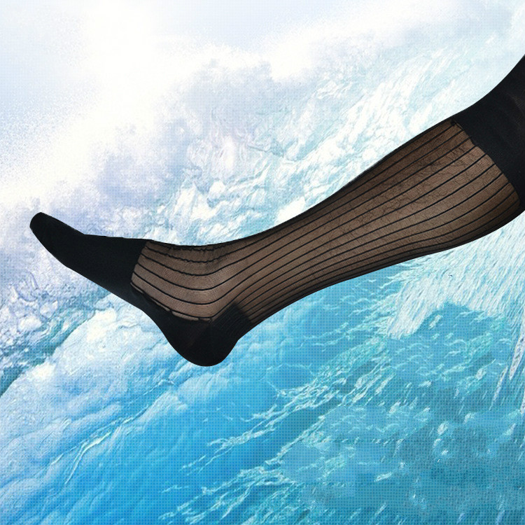Men's Socks Ice Silk Socks Ultra Thin Men's Business Dress Socks Erotic Formal Dress TNT Socks Sexy Sheer Transparent Socks