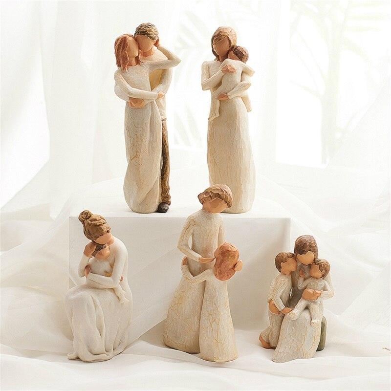 Happy Home Products R/ésine Artisanat Figurine Couple Inuit Ornements De Mariage Statue Maison S/érie Cr/éatif Costume National De Cadeau De No/ël Saint Valentin