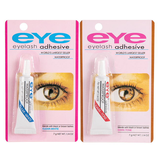1PC False Eyelash Glue Waterproof Eye Lash Cosmetic Tools Colle Faux Cil False Eyelashes Makeup Adhesive Clear-white Dark-black 5