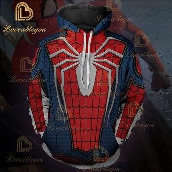 Superhéroe de Los Vengadores Sudadera con capucha Pullover Spiderman Capitán América Deadpool Spider-man Venom Sudadera con capucha