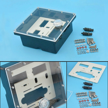 1 Set strong Waterproof Sealed Servo Radio Box for Marine Gas Nitro RC Boat rubber seal bellows screws nuts new arrival screws box set for 1 10 rc car