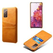 Ranuras de tarjeta cubierta PU Funda de cuero para Samsung Galaxy S20 FE 5G Nota 20 Ultra A10 A20 A30 A40 A50 A70 A21S A31 A41 A51 A71 M31 M51