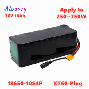 Aleaivy e-bike battery 36v 14ah 12ah 10ah 8ah li ion battery pack bike conversion kit bafang 1000w and charger + XT60 Plug image