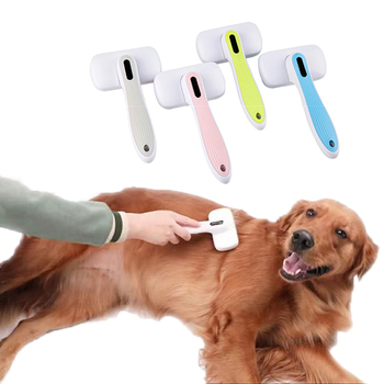 Pet Dog Brush Hair Remover Comb Self Cleaning Dog Slicker Brush Shedding Trimmer Comb for Cats Dogs Long Hair Pet Grooming Tools pet hair deshedding dog cat brush comb sticky hair gloves hair fur cleaning for sofa bed clothe pets dogs cats cleaning tools