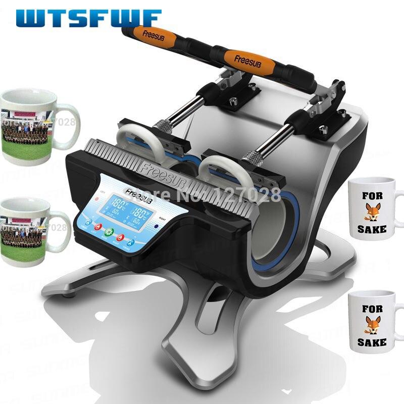 Freeshippiing Wtsfwf ST-210 Doppel-station Thermische Becher Transfer Drucker Maschine Mug Wärme Drücken Drucker Digitale Becher Drucker
