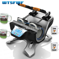 Freeshippiing Wtsfwf ST 210 Double station Thermal Mug Transfer Printer Machine Mug Heat Press Printer Digital Mug Printer