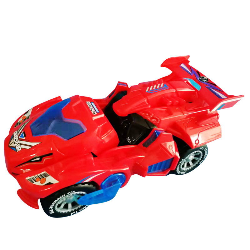 Kids Deformation Toys Car 3D LED Dinosaur Play Vehicles With Light Flashing Music For Children Christmas Gift