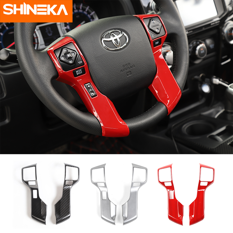 SHINEKA Interior Mouldings For Toyota <font><b>4Runner</b></font> <font><b>2010</b></font>+ Car Steering Wheel Decoration Cover Stickers Accessories For Toyota <font><b>4Runner</b></font> image