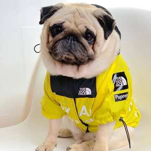 Hoodies Raincoat Windbreaker Akita Dogs Bulldog for Puppy-Small-Big Dogs-Clothing French