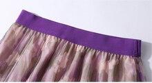 SMTHMA nouveau automne femmes volants manches tricot pull hauts pulls + taille élastique floral imprimé jupe plissée costume deux pièces ensemble