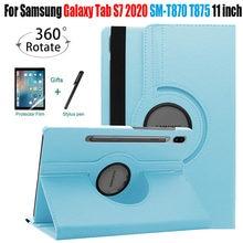 Чехол для Samsung Galaxy Tab S7, 11 дюймов, флип-чехол для планшета с вращающимся на 360 градусов кронштейном