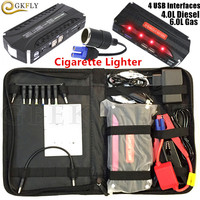 Mini Emergency Car Jump Starter 12V Portable Power Bank Car Battery Charger For Booster Starting Device Diesel petrol Auto LED