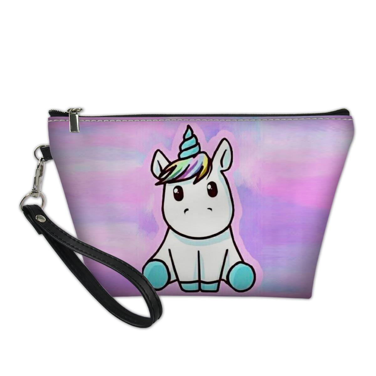 Thikin 2020 Kawaii Unicorn Casual Pencil Bags Pen Bag For Boys Pen Case Student Makeup Storage Handbags Cartoon Pattern Case