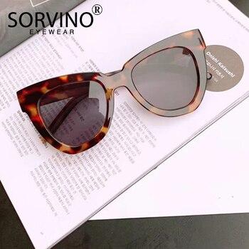 SORVINO Retro Designer Tortoiseshell Cat Eye Sunglasses Women Luxury Brand Classic ladies White Cateye Sun Glasses Shades SP115 1