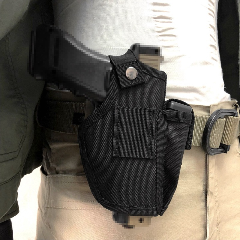 Tactical Gun Holster IWB OWB Pistol Holder With Magazine Pouch Slot Metal Clip For Glock
