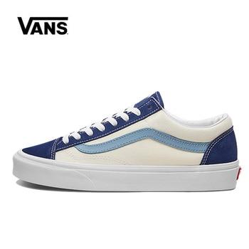 цена Vans Style 36 Shoes Blue Original Vans Low Shoes Men Women Sneakers Unisex Skateboarding Shoes VN0A3DZ3VY1 онлайн в 2017 году
