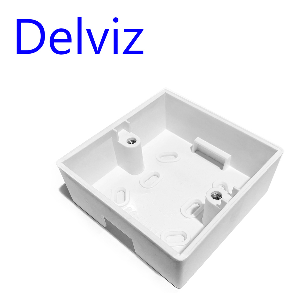 Delviz External Mounting Box For 86*86mm Standard Wall Switch Plastic Materials BOX Wall Socket Cassette Outer Wall Junction Box