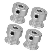 4pcs GT2 Timing Pulley 20 Teeth - Aluminum Bore 5mm Synchronous Wheels, Gears For Width 6mm 3D Printers Parts, 2mm Pitch(China)