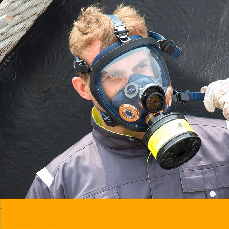 Chemical Mask Full Face Gas Mask Dustproof Respirator Rubber Industrial Pesticide Painting Spraying Mask for Laboratory Welding