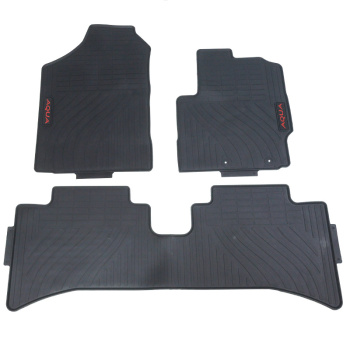 Car Floor Mats for Toyota Prius C AQUA Right Hand Drive RHD Special No Odor Front and Rear Carpets Waterproof Rubber image
