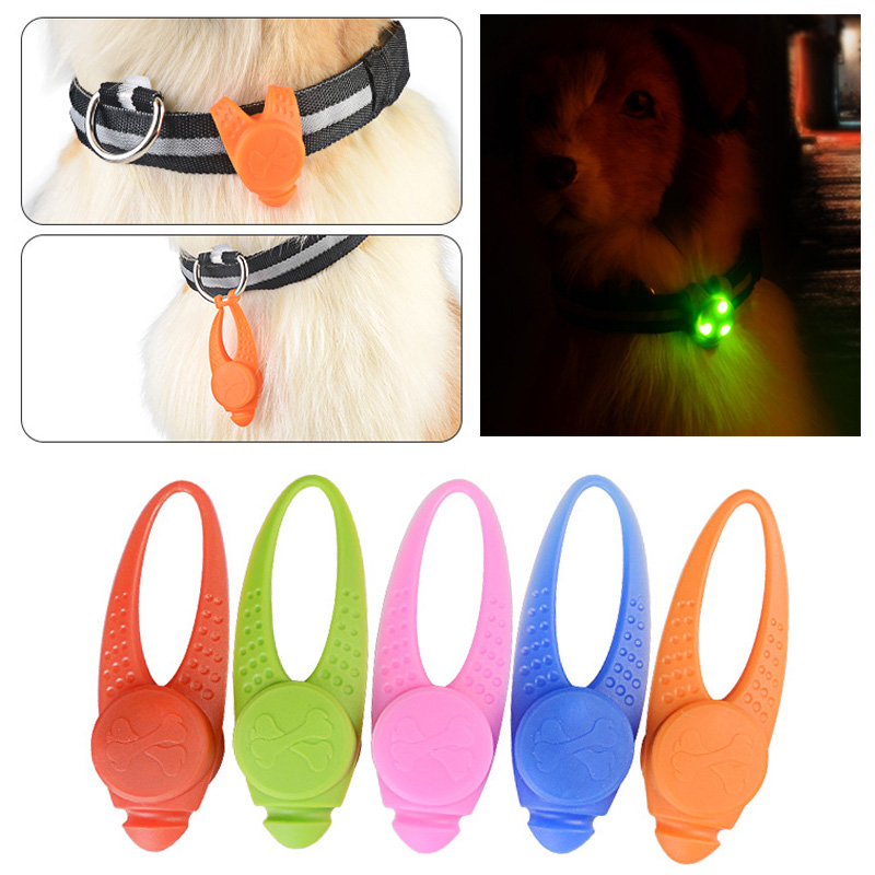 Safety Necklace Luminous Blinking Collar Dog LED Lamp Collars 1Pc Silicone Dog Harness Collar Glowing Pendant 8*2.5cm