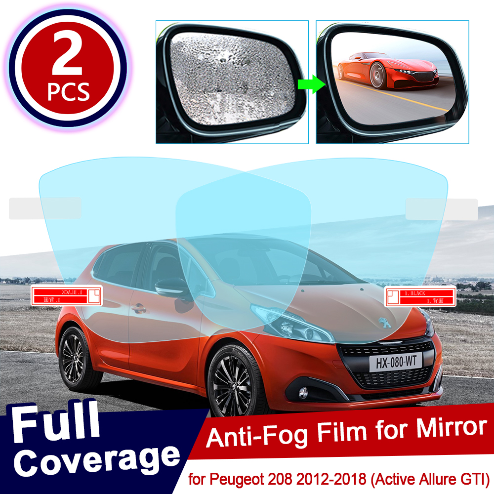 for <font><b>Peugeot</b></font> <font><b>208</b></font> 2012~2018 Active Allure <font><b>GTI</b></font> Full Cover Anti Fog Film Rearview Mirror Accessories 2013 2014 2015 2016 2017 image