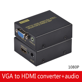 VGA audio to HDMI video converter audio sync output VGA input HDMI output computer monitor HD 1080P displayport to hdmi vga hd convertor white