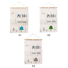 Over Door Wall Organizer Merry Christmas Bag Pocket Hanging Hanger Storage H