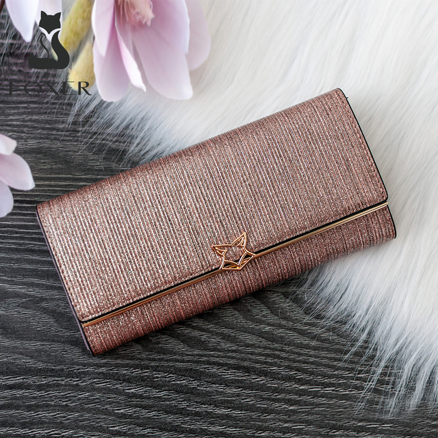 FOXER Brand Women Split Leather Wallets Female Clutch Bag Fashion Coins Card Holder Luxury Purse for Ladies Womens Long Wallet