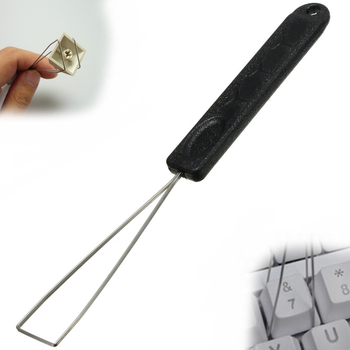 Keyboard Key Keycap Puller Key Cap Remover With Unloading Steel Cleaning Tool Computer Accessories For Office School