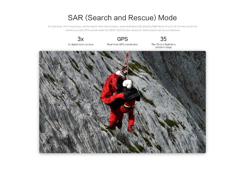 X8SE Camera Drone Set 4K Quadcopter 8km distance RTF remote control